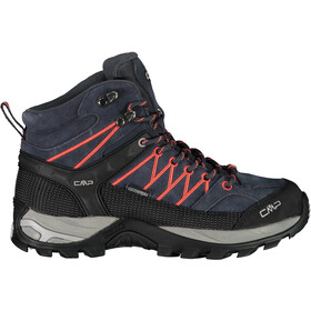 CMP Campagnolo Rigel WP Botas Trekking Medias Mujer, antracite-red fluo
